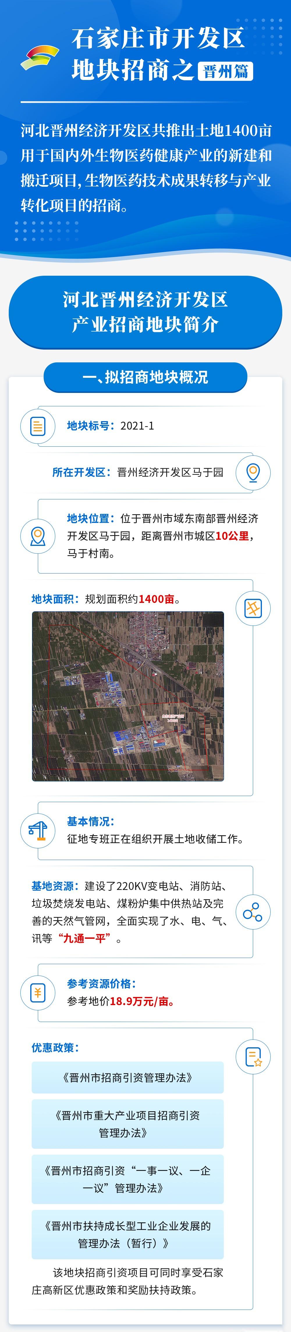晋州经济开发区产业地块招商